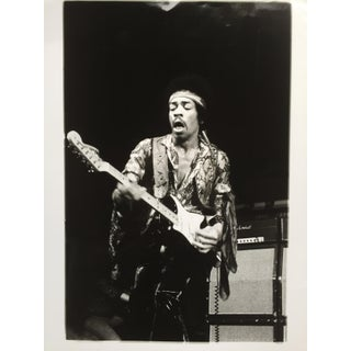 1970 Vintage Jimi Hendrix Black & White Glossy Photo by Jørgen Angel