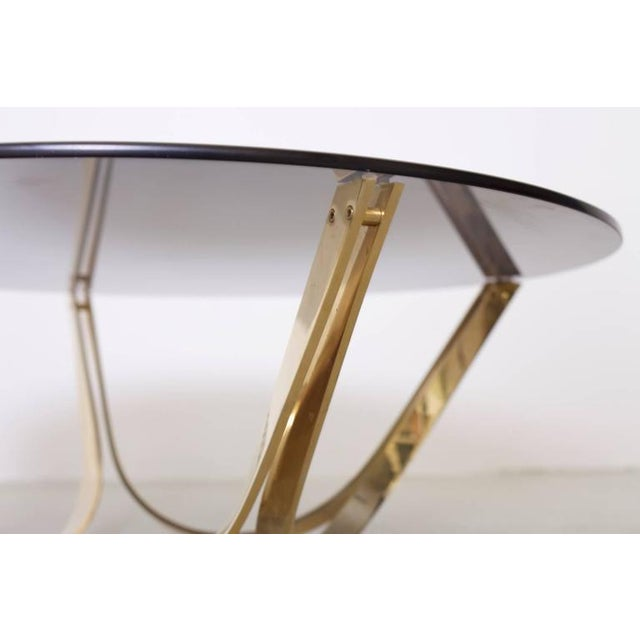 1970s Brass and Smoked Glass Coffee Table by Tri-Mark, circa, 1971 For Sale - Image 5 of 8