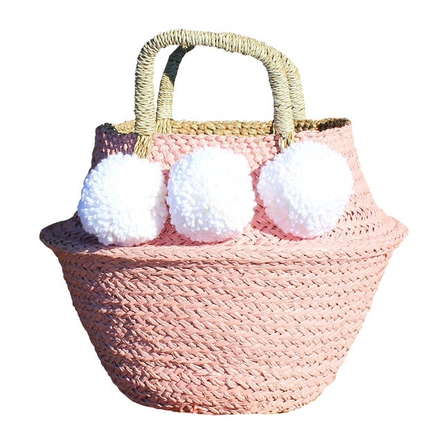 Pink Belly Basket & Pom-Poms - Image 1 of 5