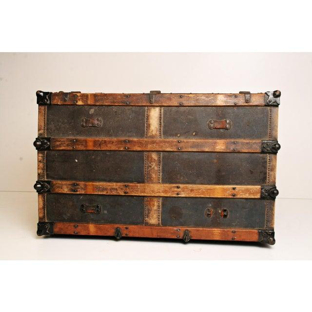 Antique Wood Steamer Trunk - Image 7 of 11