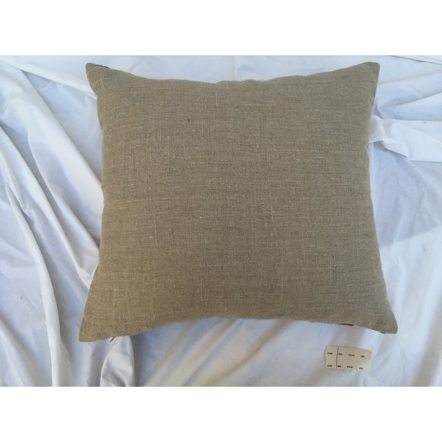Antique Embroidered Suzani Pillow - Image 7 of 7