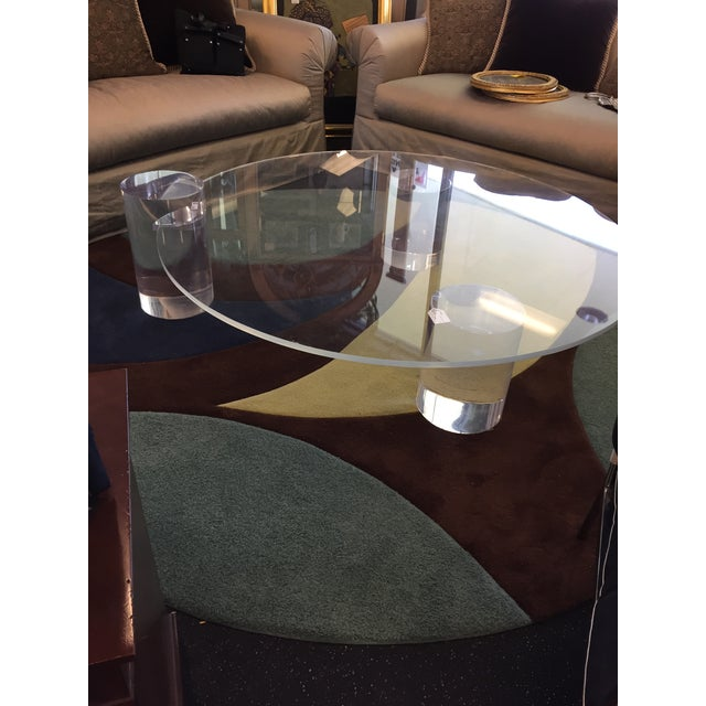 Charles Hollis Jones Lucite Column Coffee Table - in the Style of Charles Hollis Jones For Sale - Image 4 of 7