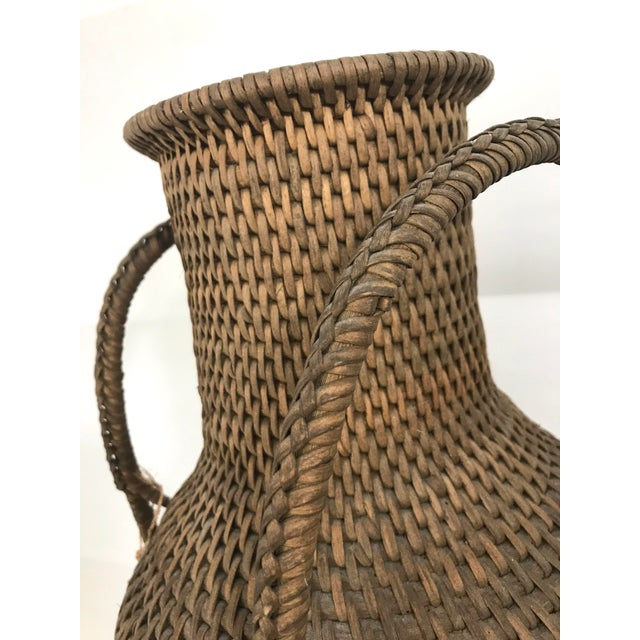 1970s Hapao Philippine Woven Rattan Urn/Vase For Sale - Image 5 of 7