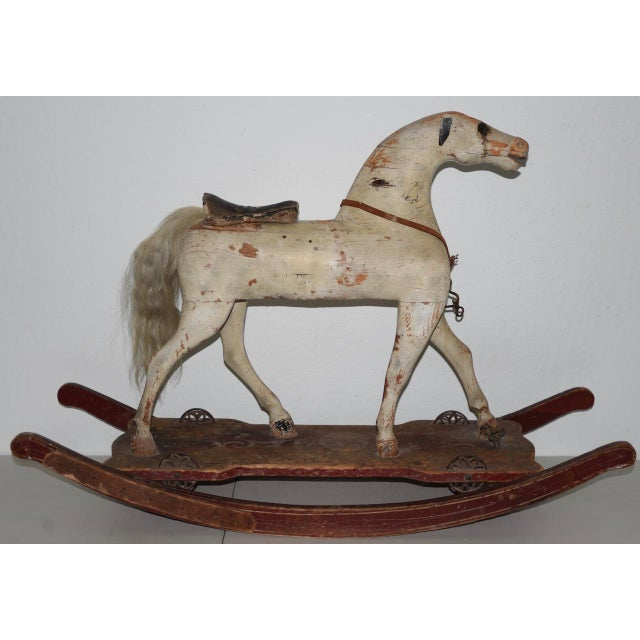 19th Century American Folk Art Rocking Horse For Sale - Image 11 of 11