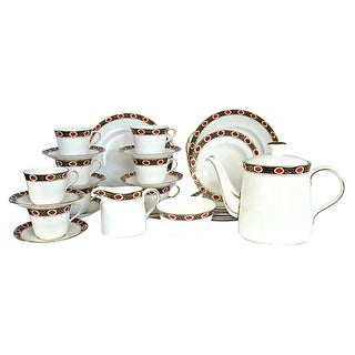 Vintage Crown Derby Coffee / Tea & Dessert Set - 31 Pieces For Sale