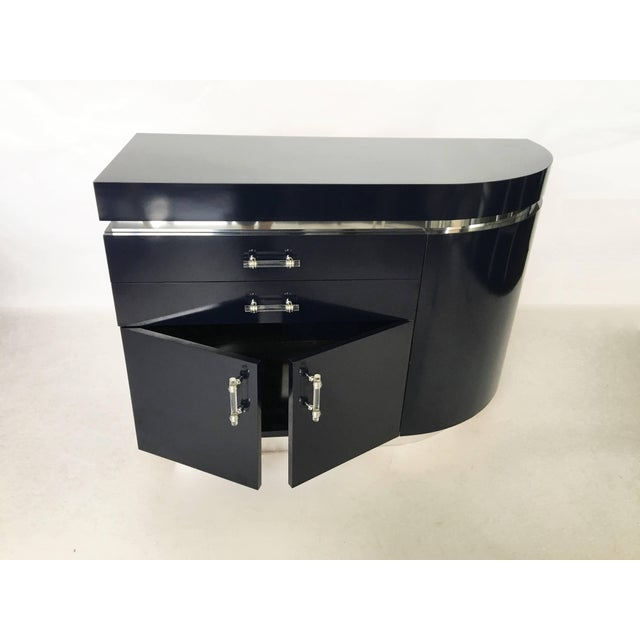 Acrylic Pair of Large J. Wade Beam Nightstands For Sale - Image 7 of 11