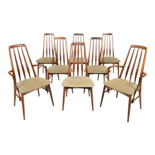 'Eva' Highback Dining Chairs in Rosewood - Set of 8 For Sale