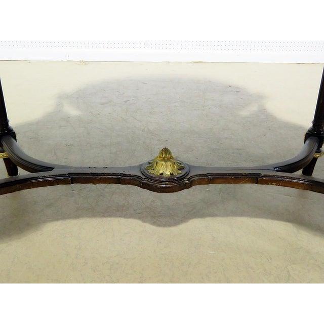 Hollywood Regency Regency Style Marble Top Vanity With Mirror For Sale - Image 3 of 11