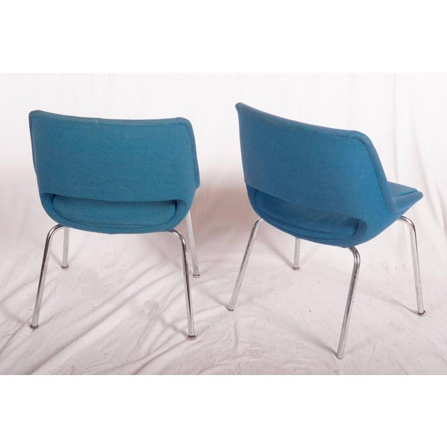 This set of mid-century side chairs was designed by Olli Mannermaa and manufactured by Martela Oy in the 1960s. It...
