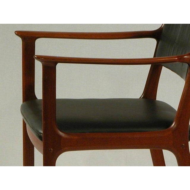 1960s 1950s Ole Wanscher PJ 412 Mahogany Armchair For Sale - Image 5 of 7