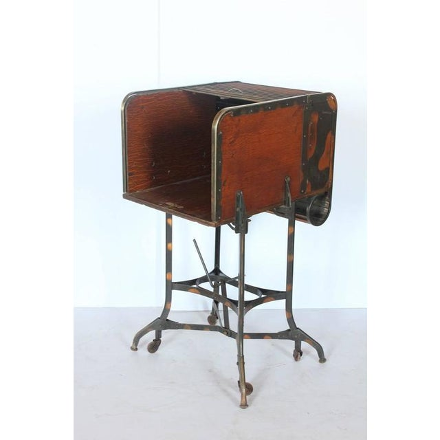 Early 1900s American Industrial Roll Top Desk/Table by Toledo - Image 2 of 6