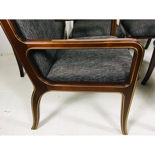 1970s Vintage Baker Furniture Company Dining Room Chairs- Set of 6 For Sale - Image 11 of 13