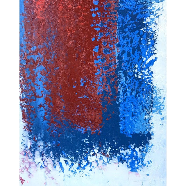 Mario Sergio Lopomo Vintage Abstract Painting For Sale - Image 7 of 10