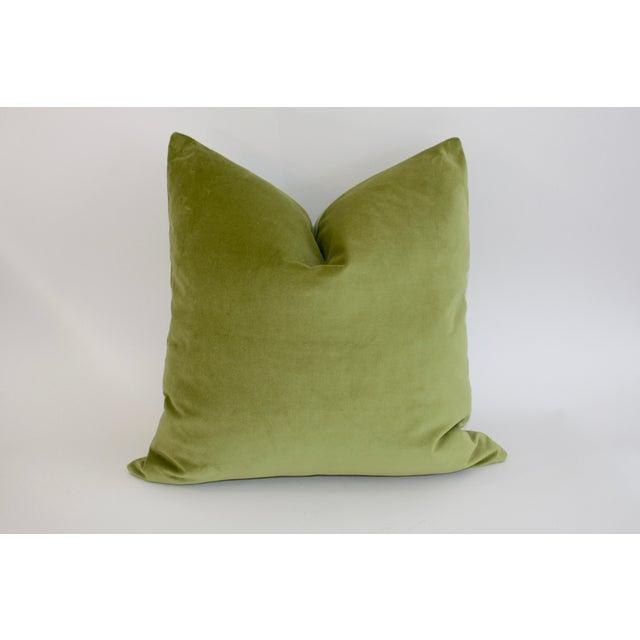 Apple Green Velvet Pillow - Image 2 of 3