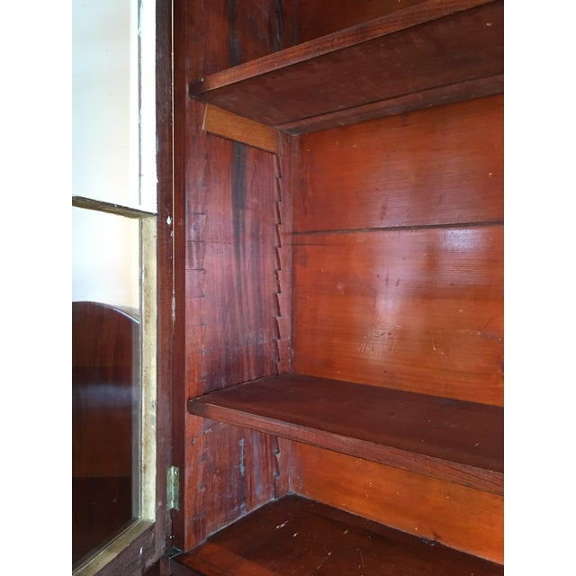 American Empire Secretary With Glass Door For Sale - Image 10 of 11