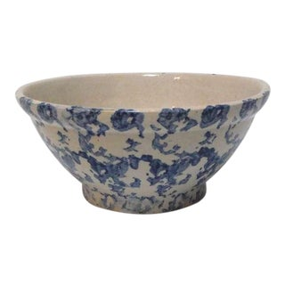 19th Century Sponge Ware Serving/Mixing Bowl For Sale