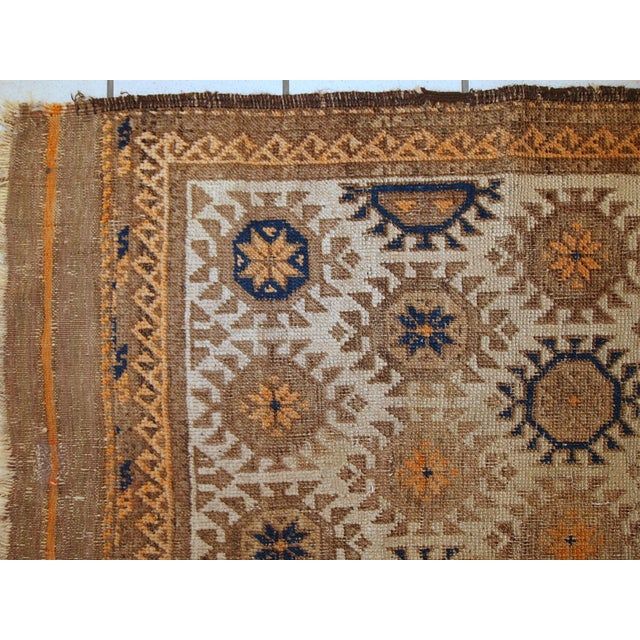 1890s Hand Made Antique Afghan Baluch Rug - 2′1″ × 3′9″ - Image 5 of 10