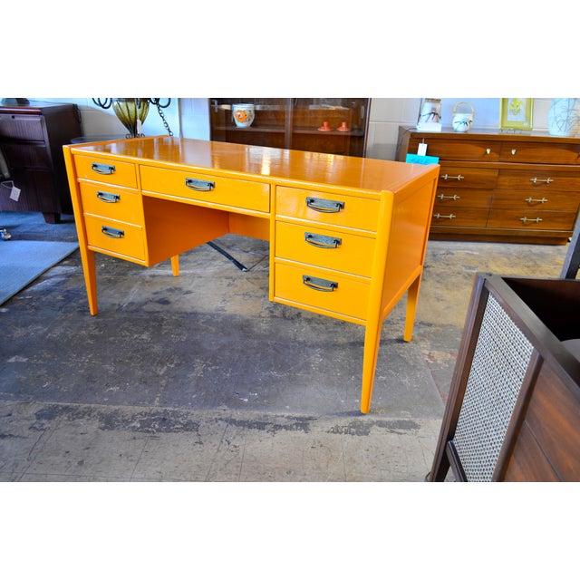 1970s Vintage Broyhill Mid Century Modern Desk For Sale In San Antonio - Image 6 of 6