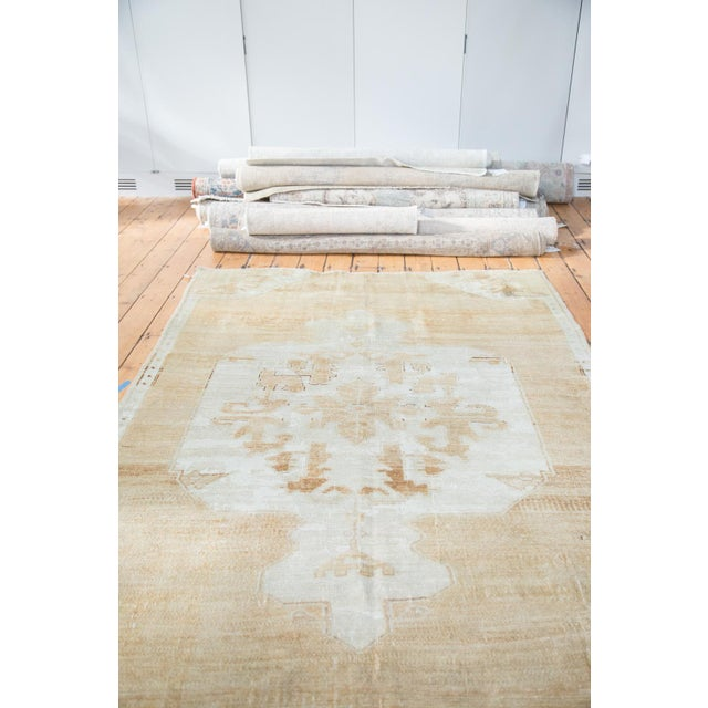 "Boho Chic Distressed Oushak Carpet - 5'10"" X 9'1"" For Sale - Image 3 of 10"
