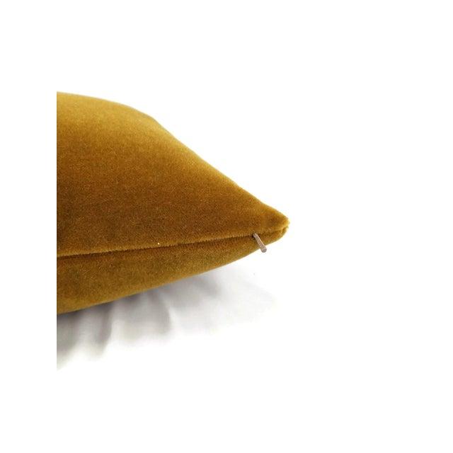 Contemporary S. Harris Ankara Mohair Amber Velvet Lumbar Pillow Cover For Sale - Image 3 of 6