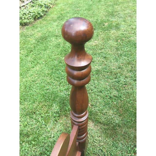20th Century Full-Size Cherry Bedframe For Sale - Image 11 of 13