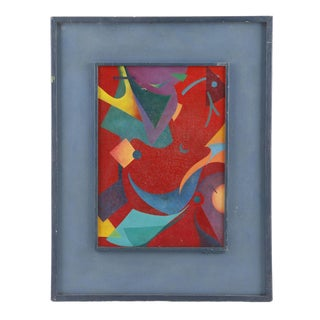 Contemporary Abstract Bauhaus Oil Painting For Sale