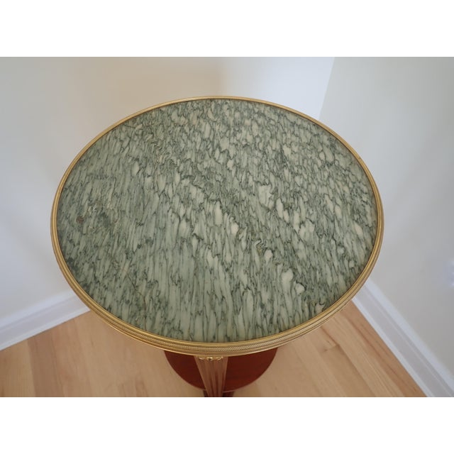 Metal Mahogany Marble Top Pedestal For Sale - Image 7 of 9