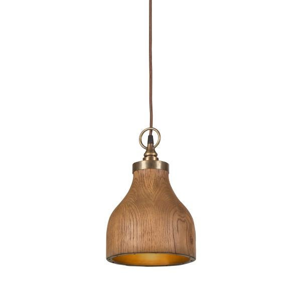 Aluminum Contemporary Big Sur Wooden Pendant Light - Small For Sale - Image 7 of 7