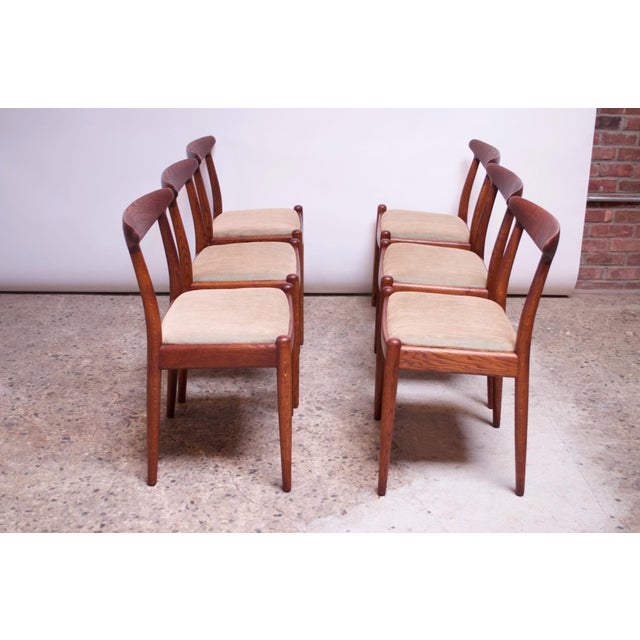 C. M. Madsens Set of Six Hans Wegner W2 Dining Chairs for CM Madsen in Oak For Sale - Image 4 of 13