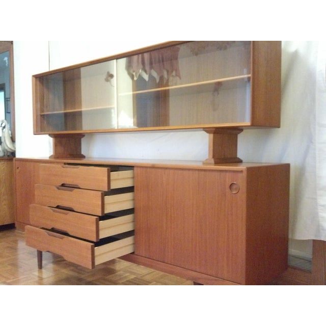 Mid-Century Danish Teak Credenza with Hutch - Image 6 of 7