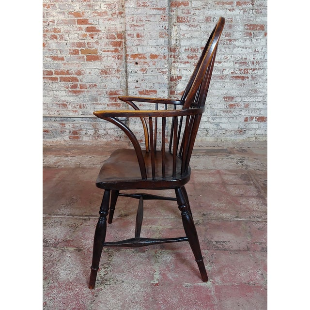English Traditional 18th Century George III Windsor Chairs - Set of 6 For Sale - Image 3 of 10