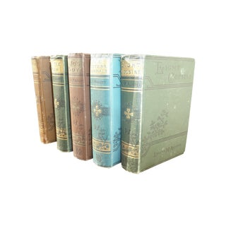 Pastel Louisa May Alcott Books - Set of 5 For Sale