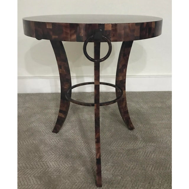 Eric Brand Tortoise Shell Side Table - Image 2 of 6