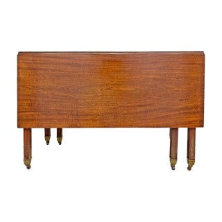 18th Century English Georgian Mahogany Drop-Leaf Breakfast Table For Sale