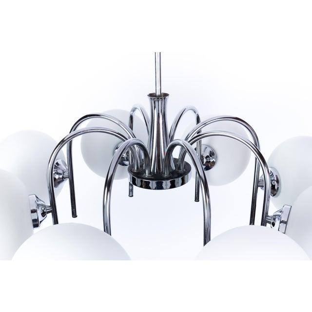 Metal Spider Sputnik Chandelier For Sale - Image 7 of 10