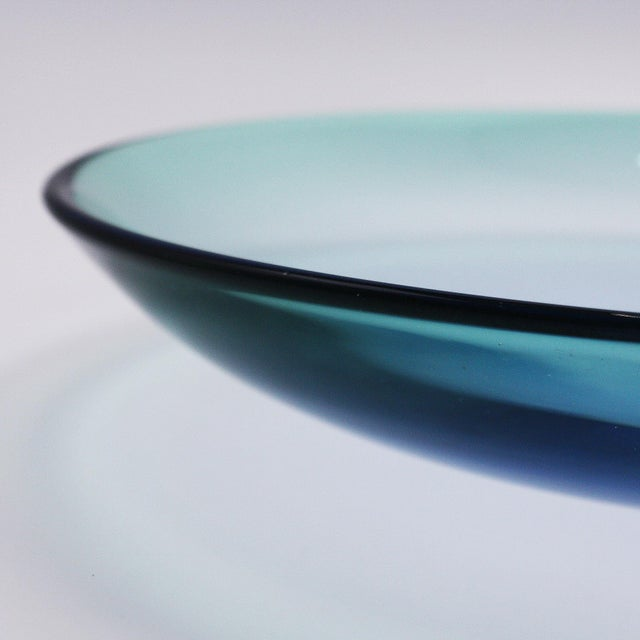 Tinted Blue Murano Glass Bowl by Barbini, C. 1930 For Sale In Dallas - Image 6 of 7