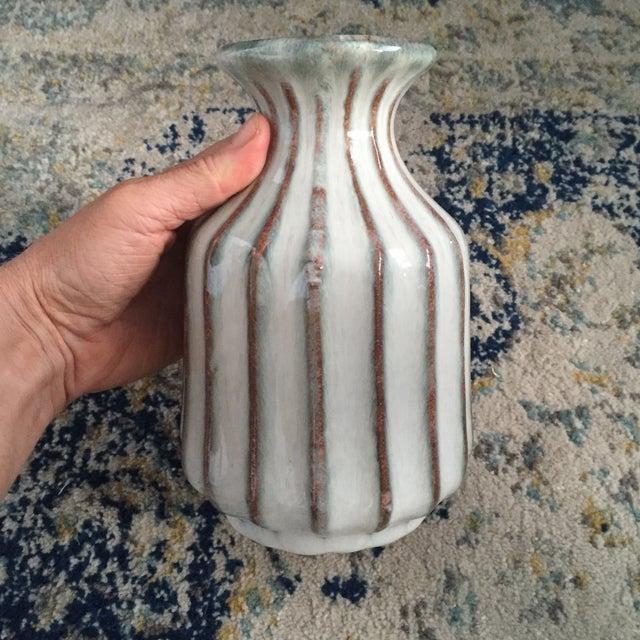 Mid-Century Modern Glazed Pottery Vase - Image 11 of 11