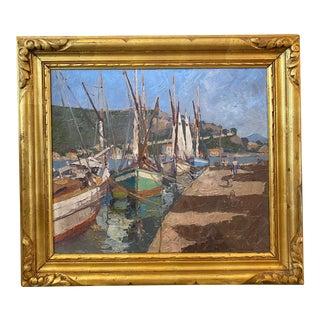 Jean-Pierre Garapin 'Tartanes á St. Mandrier' Painting For Sale