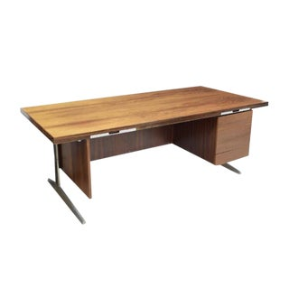 Denmark 1960's Marius Byrialsen for Nipu Rosewood Executive Desk