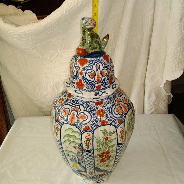 Delft Lidded Ginger Jar For Sale - Image 11 of 12
