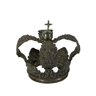 Late 20th Century Vintage Bolivian Silver Crown For Sale