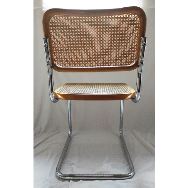 Vintage Marcel Breuer Style Chrome & Cane Chair - Image 5 of 7