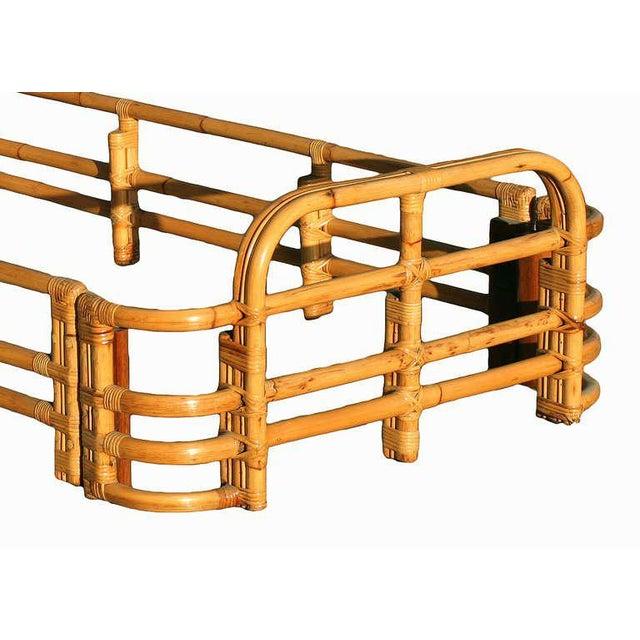 Restored Single Sized Bent Rattan Bed Frame - Image 4 of 5