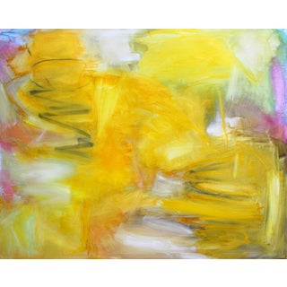"""""""Fields of Gold"""" by Trixie Pitts Stunning Abstract Expressionist Oil Painting For Sale"""