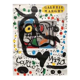 1965 Joan Miro Galerie Maeght Lithograph For Sale