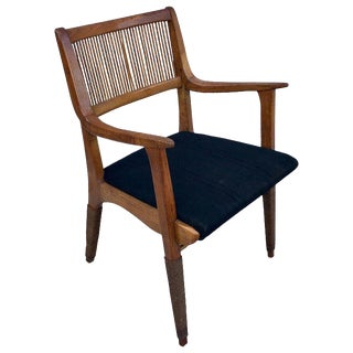 French Modern Armchair With Rope Detail For Sale