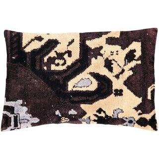 """1960s Turkish Oushak Lumbar Pillow 16"""" X 24"""" For Sale"""