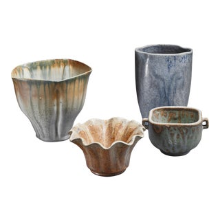 Arne Bang Set of Four Ceramic Pieces, Denmark For Sale