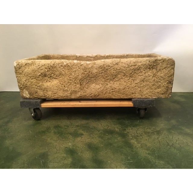 Stone Rustic Cast Stone Farm Sink/Planter/Water Feature For Sale - Image 7 of 12