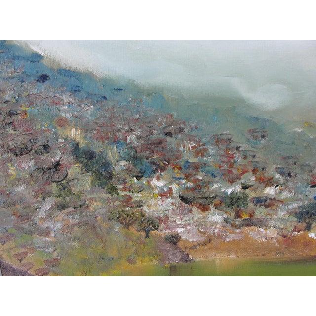 Vintage Harbor Impressionist Oil on Canvas Painting For Sale - Image 4 of 9